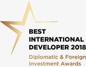 Best International Developer 2018 award logo