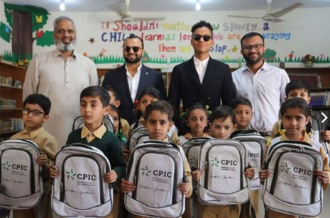 Jaafar Jackson visits TCF school in Pakistan with CPIC