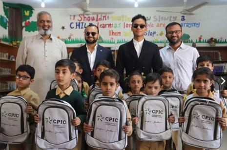 Jaafar Jackson visits TCF school in Pakistan with CPIC